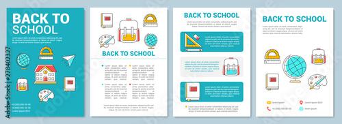 Stampa su Tela School education brochure template layout
