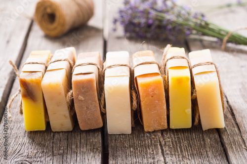 Photo  Handmade natural soap with lavander