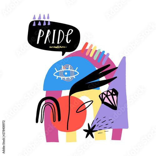 Cuadros en Lienzo Gay Pride LGBT rainbow concept