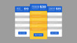 Price table vector EPS template for website