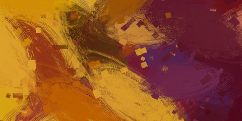 Art wallpaper. Digital canvas. 2d illustration. Texture backdrop painting.