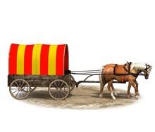 Wagon Colonists, Horse Wagon, ...