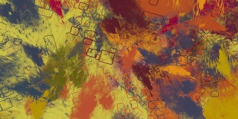 Handmade surreal abstract pattern. Modern artistic canvas. 2d illustration. Texture backdrop painting.