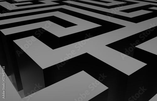3d labyrinth maze challenge Canvas Print