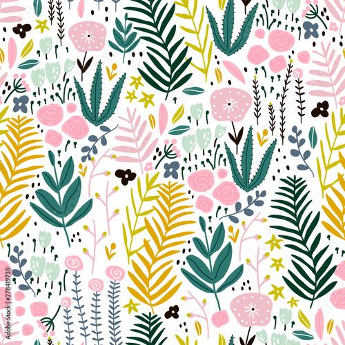 bezszwowy-wzor-z-kwiatami-galaz-liscie-kreatywna-kwiecista-tekstura-swietny-do-tkanin-ilustracji-wektorowych-wlokienniczych