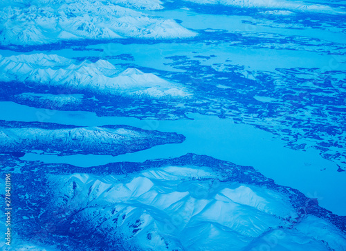 Aerial view of a National Park in Alaska, USA Canvas Print