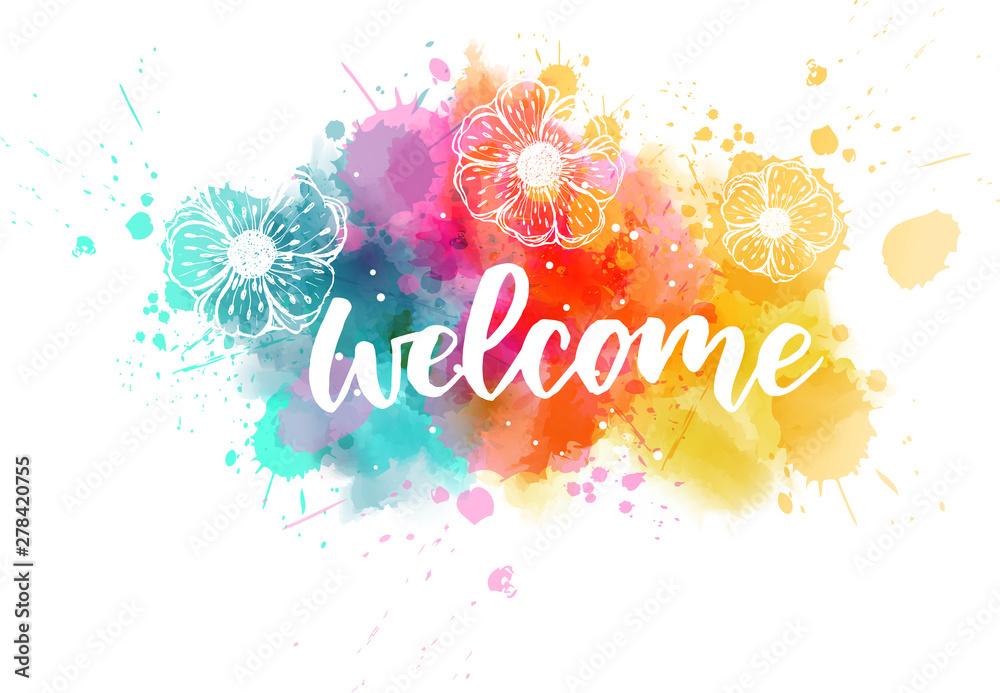 Fototapeta Welcome lettering