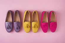 Multicolored Suede Moccasins S...