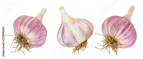 Fotomural  garlic isolated on white background