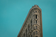 View Up To The Top Of The Flat Iron Building, Manhattan, New York