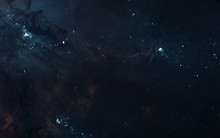 Star Clusters, Deep Space Nebulae. Beautiful Space Landscape. Science Fiction. Elements Of This Image Furnished By NASA