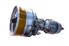 Airplane Jet Engine Isolated O...