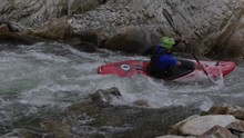 Two Friends Kayak In Slow Moti...