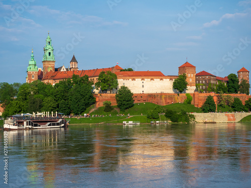 Foto op Canvas Krakau The Wawel Royal Castle in Krakow, Poland.