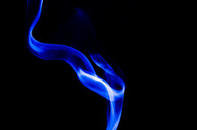 Nature Abstract: The Delicate Beauty And Elegance Of A Wisp Of Blue Smoke