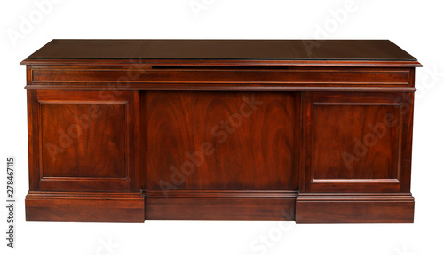 Obraz Office desk table with clipping path. - fototapety do salonu