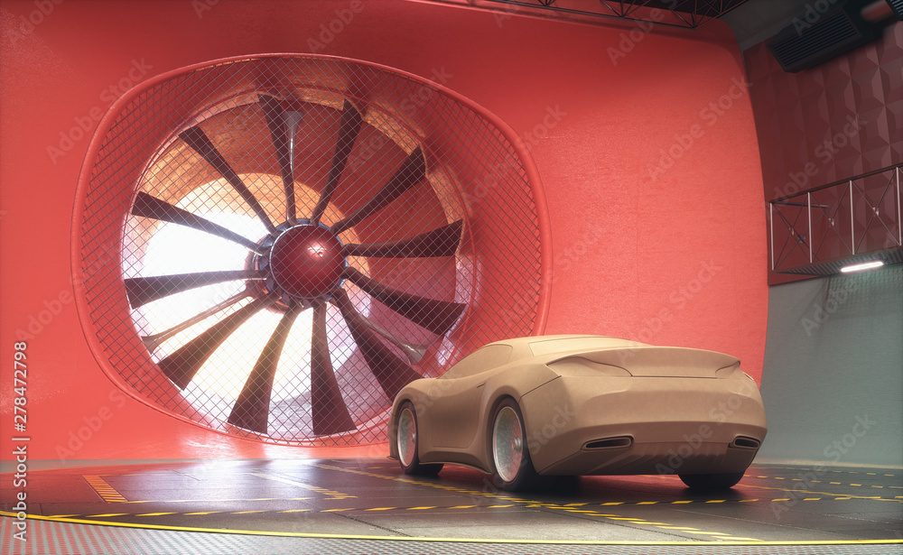 Fototapety, obrazy: Wind Tunnel Clay Car Design Transportation