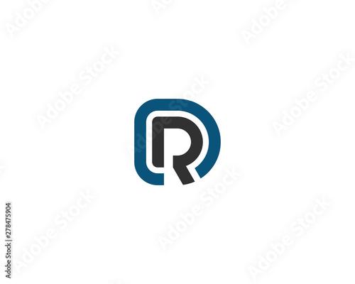 Fotomural abstract letter logo initial DR design template vector illustration