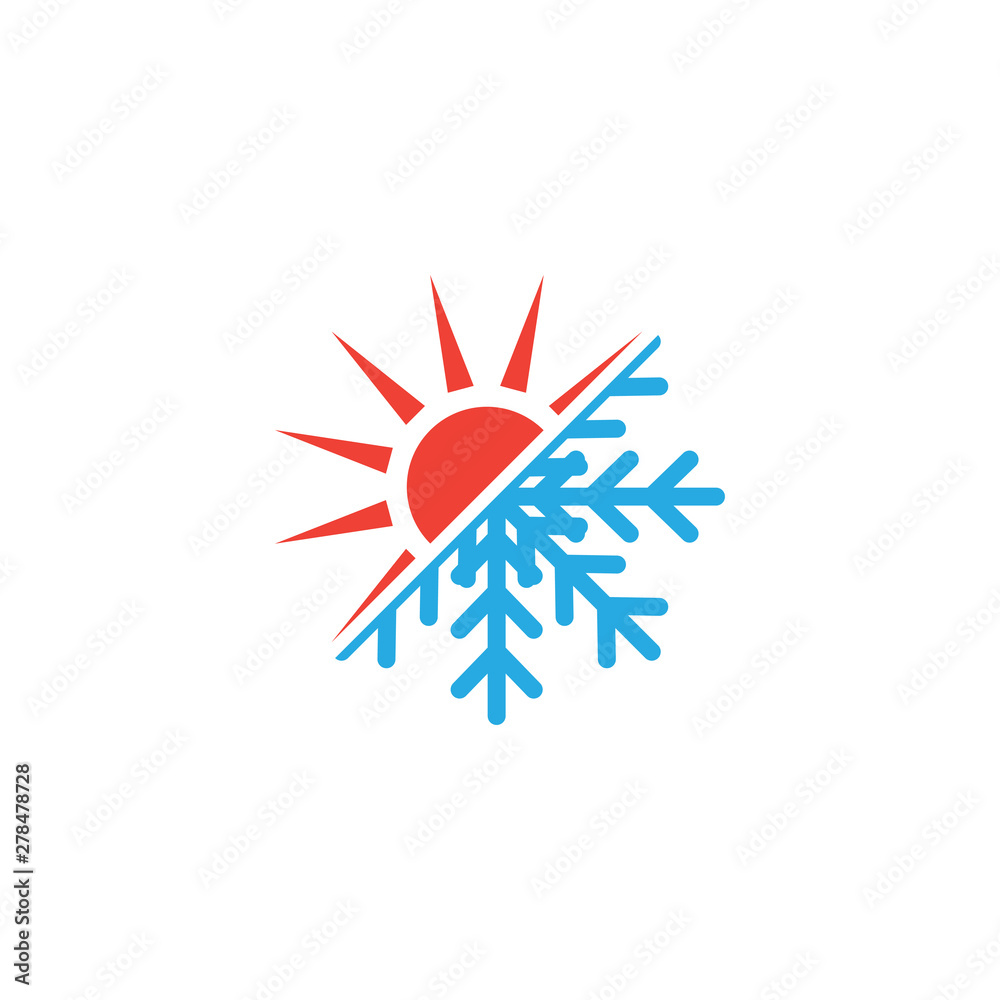 Fototapety, obrazy: Hot and cold icon graphic design template