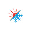 Hot and cold icon graphic design template