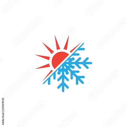 Fotografía  Hot and cold icon graphic design template