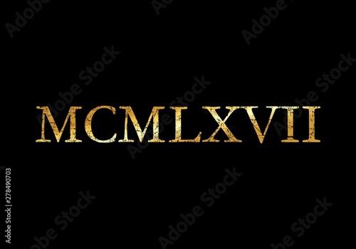 Fotografia  MCMLXVII 1967 Roman (Ancient Gold)