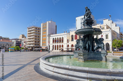 Georgiou I square (Plateia Vasileos Georgiou), Patras, Greece. Canvas Print