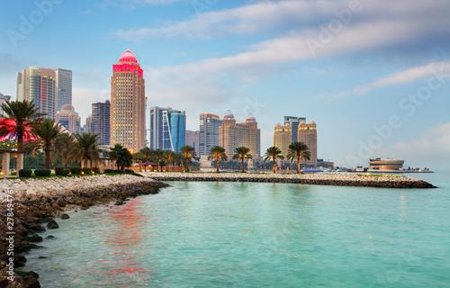 Fényképezés  Doha skyline at day, Qatar