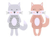 Cute cartoon cat boy in scandinavian style. Childish print for nursery, kids apparel,poster, postcard.