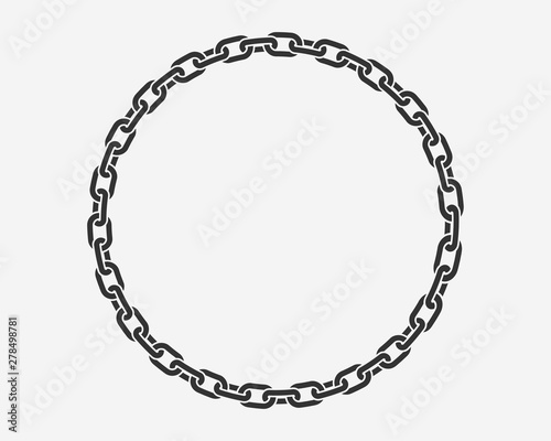 Texture chain round frame Fototapete