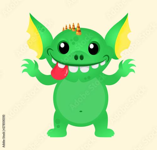 фотография Cute little Kids Monster Vector mascot Template