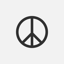 Peace Symbol Vector Icon Isolated On White Background. Vector Illustration.