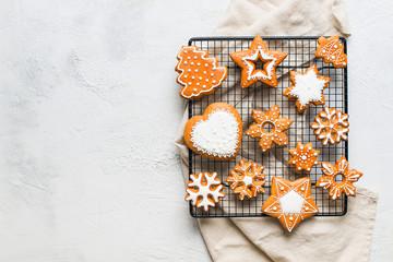 Christmas gingerbread backg...