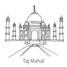 Taj Mahal Drawing Sketch