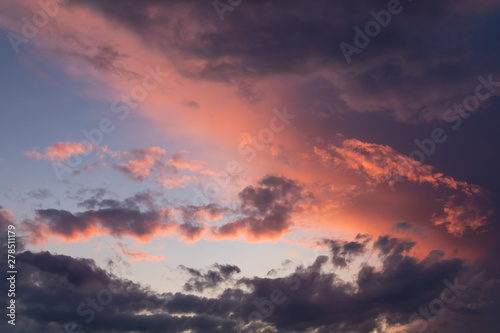 Dramatic sunset and sunrise sky. #278511179