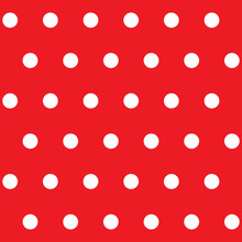 Polka Dot Seamless Pattern. Wh...
