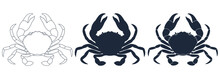 Crabs Graphic Icons Set. Sea C...