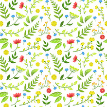 Floral Seamless Pattern Of Rou...