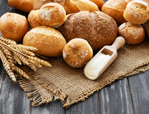 Canvas Prints Bread Assortment of baked bread