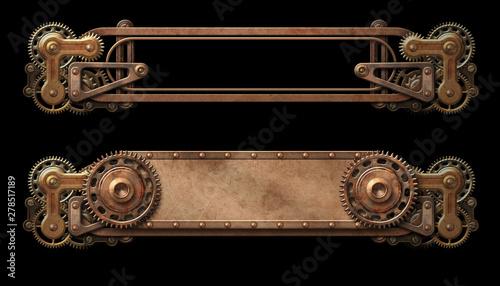 Fotografie, Tablou  Steampunk aged copper banners