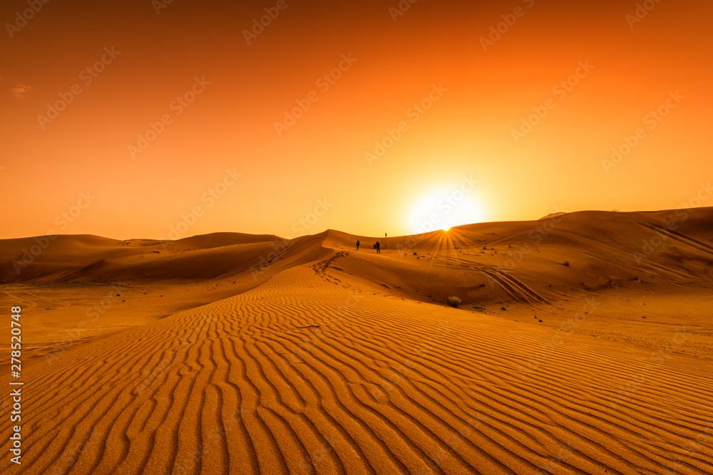Fototapeta Desert, sunset in desert, desert in Dubai