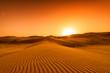 canvas print picture - Desert, sunset in desert, desert in Dubai