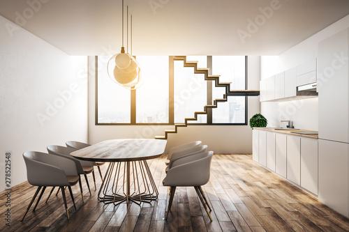 Foto auf AluDibond London Luxury loft kitchen interior