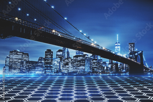 Spoed Foto op Canvas New York Abstract New York background