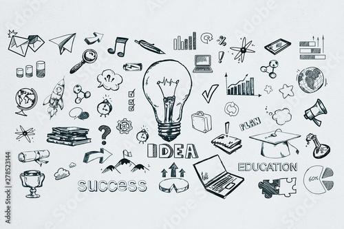 Obraz Idea and success concept - fototapety do salonu