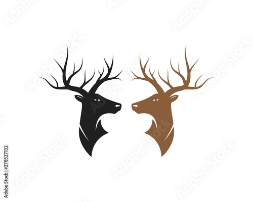 Fotografie, Obraz  Deer vector icon illustration design