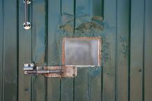 Photo Of Green Iron Door With Window