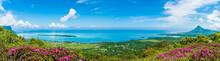Panorama Of The South Coast Of Mauritius Island, Africa