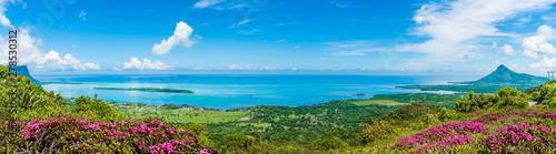 Fotografie, Obraz Panorama of the south coast of Mauritius island, Africa