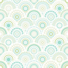 Seamless Abstract Pattern Of Circles And Dots Of Green And Turquoise Colors.
